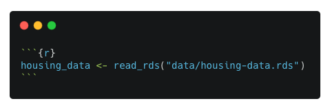 A code chunk that reads in data in an RDS file in the data folder